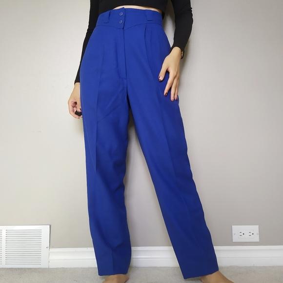 Vintage Royal Blue Trousers